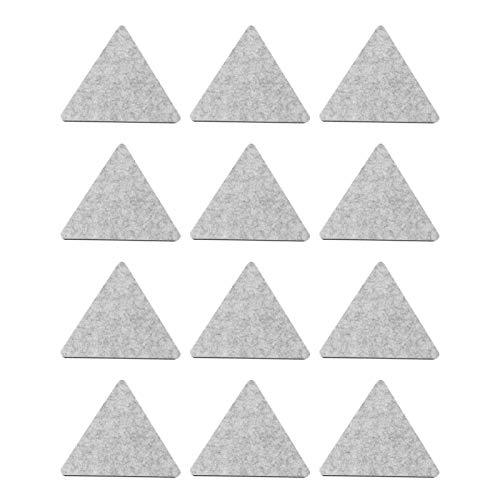 EXCEART 12Pcs Panneaux Acoustiques en Feutre Insonorisé Studio Mousse Triangulaire Carreaux de Mur Réduction Du Bruit Pyramide Traitement de Studio pour Plafond de Studio à Domicile