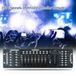 Fesjoy Contrôleur 192 canaux, Console de contrôleur de 192 canaux DMX512 pour l'opérateur de DJ Lottomr de Partie légère d'étape