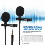 Microphone à Clip Mini-Collier à Deux Têtes E1 pour Entretien D'enregistrement de Diffusion en Direct sur Téléphone Portable