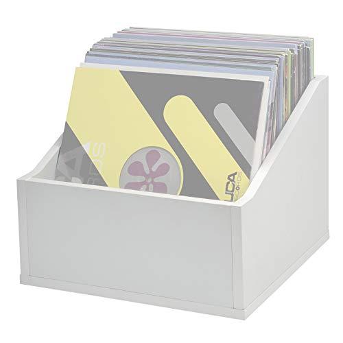 Reloop Glorious Record Box advanced white 110 – peut contenir jusqu'à 110 plaques en format 12″, coordonnées visuellement, livraison sans décoration, Blanc Glorious DJ 350
