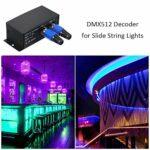 SovelyBoFan Contr?Leur LEDs Utilisation de la Console pour Les LumièRes Coulissantes au DéCodeur Dmx512 Rgbw Dmx512 DéCodeur DMX vers SPI Contr?Leur LEDs de Signal