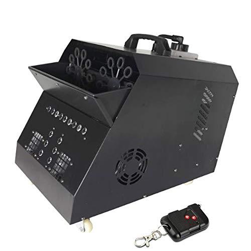 WZM Sensorielle Machine de Bulle Automatique Machine Professionnelle avec Les Lumières de LED Télécommande sans Fil avec La Lampe D'effet D'étape pour Parties Mariages Disco Bulle (Color : 2)