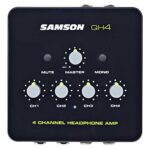 Samson QH4 Amplificateur de casque 4 canaux + casque Keepdrum