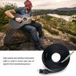 3 Mètres Câble Guitare-USB Cable, Adaptateur Jack USB Cable, Real Tone Cable, Guitare Basse vers PC Interface de Connexion Convertisseur, Fiche USB de 6.5, Câble pour Enregistrement vers l'ordinateur