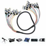 Câble de serpent XLR pratique pour connecteur de cordon audio d'extension(blue, 1.5 fans)