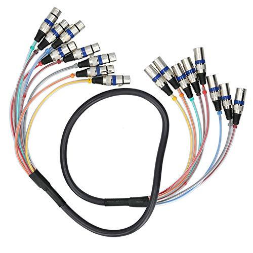 Câble de serpentin XLR efficace professionnel pour connecteur de cordon audio d'extension(blue, 1.5 fans)