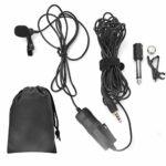 KUIDAMOS Microphone à Pince Unique léger et Portable 6 m / 20 Pieds, Compatible pour l'enregistrement de téléphone I.OS, Plug-and-Use, pour appareils d'enregistrement vidéo