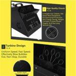 BrightFootBook 3 in 1LED Mega Bubble Machine à Brouillard,Machine à Bulles pour Animation DJ, Fog-Bubble Machine à Bulles de fumée,Mariage Evenement Soirée,DMX512 Télécommande sans-Fil,Black