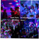 Disco Party Lights, Disco Lights pour les enfants, avec pour l'anniversaire d'enfant, Disco Ball lumières pour les Parties à la maison Sound Activated Rotating Strobe éclairage