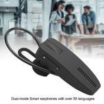 Dpofirs Écouteur Bluetooth sans Fil BT-220, Casque de Traduction Professionnelle Casque Bluetooth, Réduction Intelligente du Bruit, Prise en Charge des Modes de Traduction Voix/Regroupement/Image 3