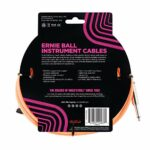 Ernie Ball 10ft Braided Straight Angle Inst Cable Neon Orange