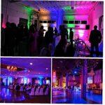 LjzlSxMF Lumière Disco, étape de LED UV Noir par Lampe avec Sound Activated Violet 12LED Télécommande pour Disco Party