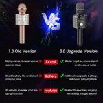 Microphone Sans Fil,Teaisiy 5 en 1 Portable Micro Karaoke Enfant Bluetooth Lecteur Enregistreur Portable,Microphone Karaoke pour Enfants/Adultes Chanter, Compatible avec Android Smartphone/IOS/PC/Pad