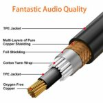 TISINO Dual RCA to XLR Cable, 2 RCA to 2 XLR Male HiFi Stereo Audio Connection Microphone Cable Wire Cord Path Cable -1m