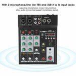 Console de mixage BT Console audio légère Avec interface USB pour karaoké à domicile, diffusion Web, enregistrement de musique(Transl)