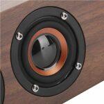 Haut-Parleur Bluetooth Support de Haut-Parleur Bluetooth en Bois de Haute qualité Fonction FM avec Affichage de l'horloge à LED