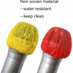Housse de protection jetable en mousse pour microphone, bande élastique non tissée