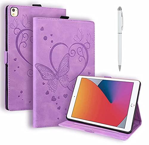 JJWYD Compatible avec Coque Huawei MediaPad M5 Lite/Mediapad C5 10.1 Pouce Tablette Housse Étui avec Cuir PU+TPU Support Fonction,Mauve