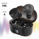 Limouyin Écouteurs sans Fil Casque Bluetooth Affichage Numérique A6, Véritable Casque sans Fil Bluetooth 5.0, écouteur étanche Stéréo Binaural, pour Les Sports de Plein Air