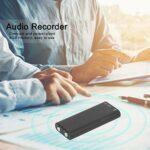 Mini enregistreur Audio Portable 96 Heures de Stockage Audio 8 Go de mémoire USB alimenté pour la Maison 1,8 x 0,7 x 0,3 Pouces