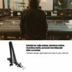 ROMACK Support de Clip de Microphone Support de Microphone léger et Facile à Transporter, pour Station de télévision, pour Studio d'enregistrement