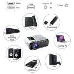 SMDMM Projecteur LED Mini Micro Projecteur Vidéo HD Portable avec USB pour Jeu Film Cinéma Home Cinéma