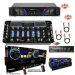 Sonorisation DJ1000MKII avec Double CD USB – Table de Mixage DJM102 – Ampli 960w et 2 Enceintes 2000W Totale – Micro, casque et Câbles offerts – PA DJ SONO MIX BAR CLUB DISCO