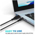 USB d'alimentation haut-parleurs portatifs clip-alimenté par USB Computer Bar Stéréo Mini Soundbar pour PC de bureau portable extraordinaire clarté Noir