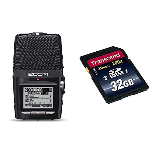 Zoom – H2n/IFS – Enregistreur 4 Pistes Portable XY et Mid-Side & Transcend Go Carte Mémoire