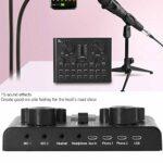 BOTEGRA Carte Son V8plus, Carte de mixage de Son pour Enregistrement de Musique avec Effet pour la Diffusion en Direct pour Microphone extérieur