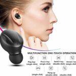 Casque Bluetooth, Aclouddatee 2020 Casque sans fil Bluetooth 5.0 Casque stéréo avec son stéréo Mini écouteurs sans fil avec casque et étui de chargement portable pour PC iOS Android (AF-G5)