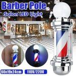 LED Barber Shop Signer Pôle Light Light Blanc Blanc Bleu Stripe Design Roating Salon Sanging Blight Lampe Lampe de beauté Lampe de salon de beauté 720