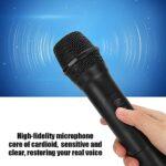 Microphone sans Fil, Microphone sans Fil Karaoké pour la Plupart des Appareils Audio avec Interface 6,5 Mm, Microphone pour Discours de Fête KTV Familial, Plug and Play