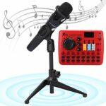 minifinker Carte Son Carte Audio, Effets sonores contrôlables Surveillance en Temps réel Carte Son d'ordinateur pour de Meilleurs Effets de Chant et de Diffusion en Direct