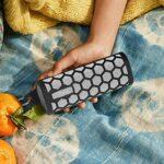 Oddity Housse De Haut-Parleur Bluetooth Housse De Protection Silicone pour for So-nos Roam avec Crochet Housse De Protection en Silicone Anti-Transpiration Trou en Maille Poussière Effective