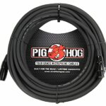 Pig Hog PHM3 Câble micro haute performance 8 mm 0,9 m, 50 ft, Noir, 1