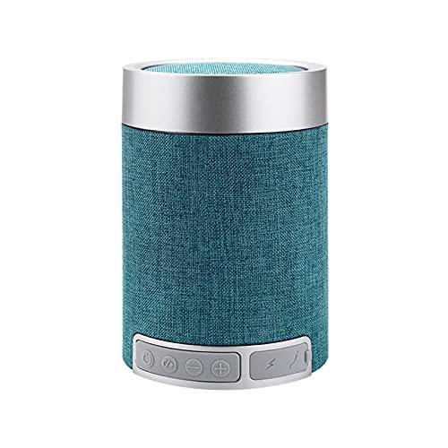 SCYMYBH Haut-Parleur Bluetooth Columinaire, Haut-Parleur Bluetooth Portable, Volume Fort, Son stéréo, Haut-Parleur sans Fil avec AUXILIAIRE Une Fonction (Color : Green, Size : 110 * 75MM)