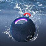 SCYMYBH Haut-Parleur Bluetooth, subwoofer Portable, Haut-Parleur sans Fil Mini Bluetooth 5.0, Volume Fort, stéréo, Haut-Parleur sans Fil avec AUXILIAIRE Une Fonction (Color : White)