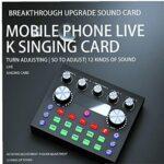 V8 Dispositif de changeur vocal d'ordinateur portable de carte son en direct V8 avec plusieurs effets sonores
