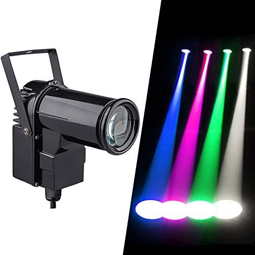 wecan Led Lampe de Scene, 12w Projecteur pour Boule à Facettes, 4 in 1 RGBW Led Pinspot Effet Lumière pour Spot fête, Scène