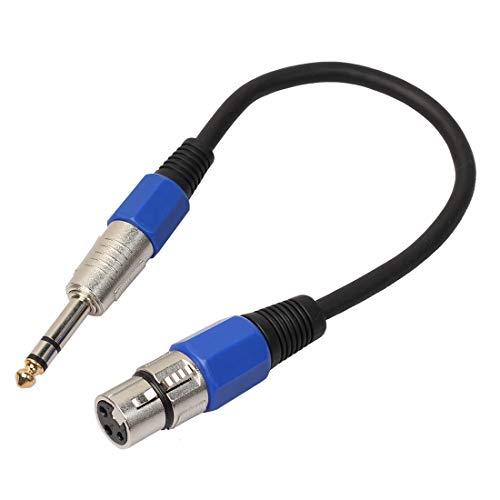 WUDENGM Câble audio mâle vers XLR femelle 30 cm XLR 3 broches femelle vers prise mâle 6,35 mm TRS stéréo câble de conversion