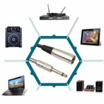 WUDENGM Câble audio mâle vers XLR femelle 30 cm XLR 3 broches mâle vers XLR femelle 6,35 mm XLR câble audio convertisseur câble