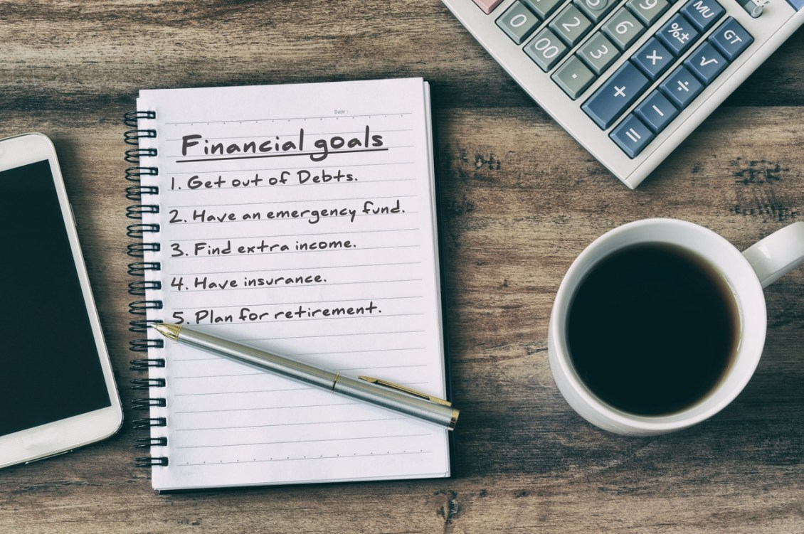 Financial goal priorities include getting out of debt