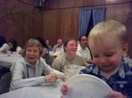 Enjoying polka night at the Ukrainian hall in Millville, N.J.,following granddaughter Laura's baptism.