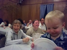 Enjoying polka night at the Ukrainian hall in Millville, N.J.,following granddaughter Laura's baptism.