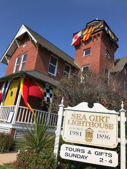 The Sea Girt Lighthouses is house with a light on top.