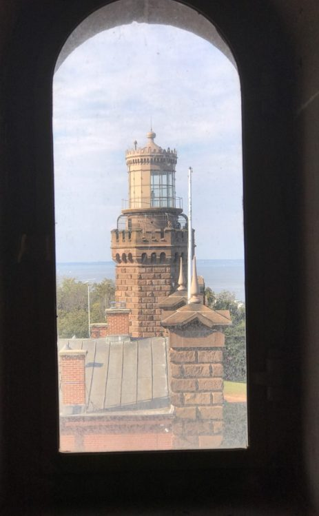 Looking through the window of the south toward toward the north