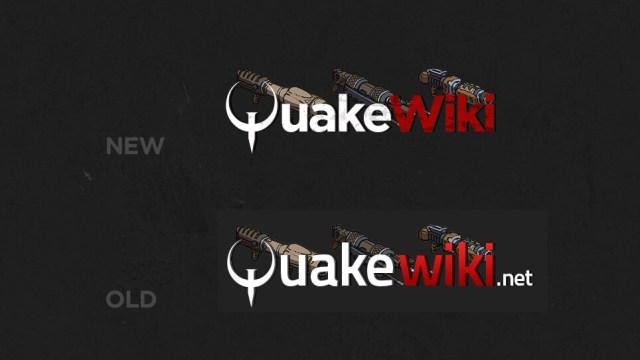 QuakeWiki Logo Comparison