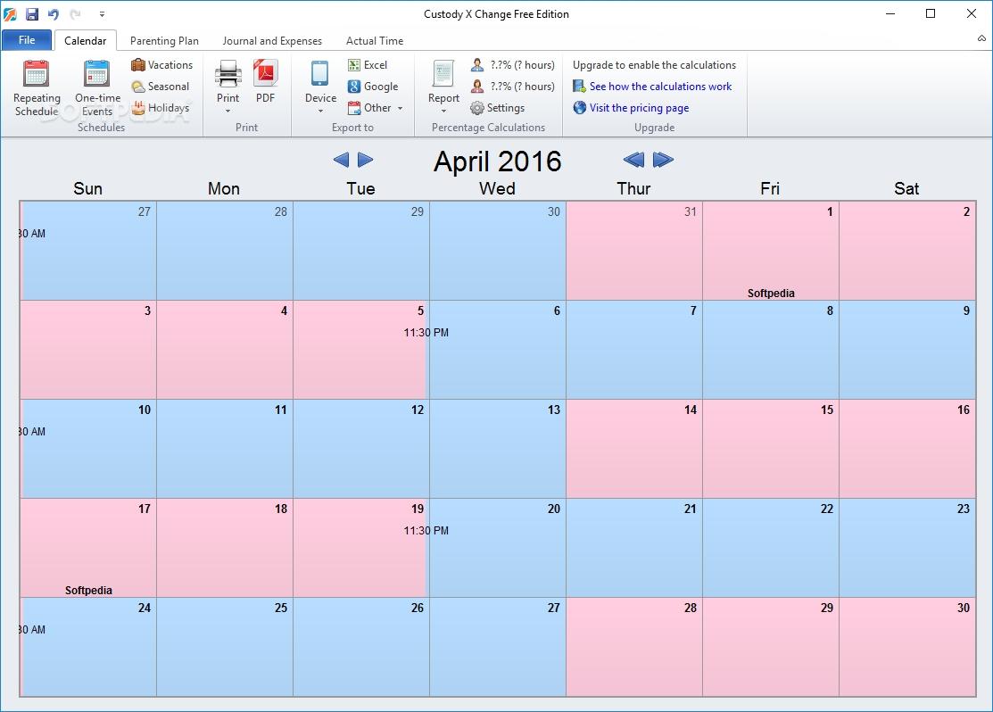 Custody Calendar Free