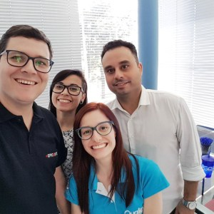Jeison, Monise, Marina e Neville Fusco na Forlogic Software